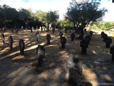 Vista del Cementerio Militar Aleman de Cuacos de Yuste