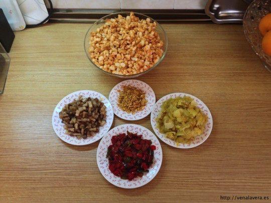 ingredientes de las migas extremeñas