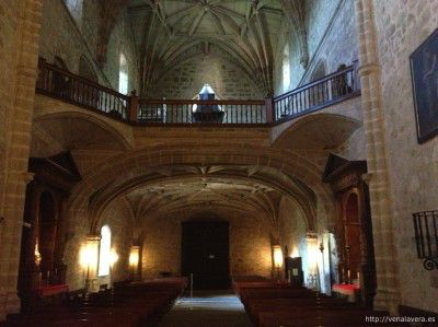 Interior de la iglesia del Monasterio de Yuste