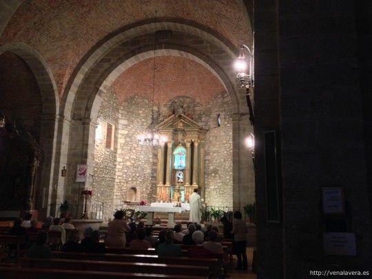 Interior de la Iglesia en Cuacos de Yuste